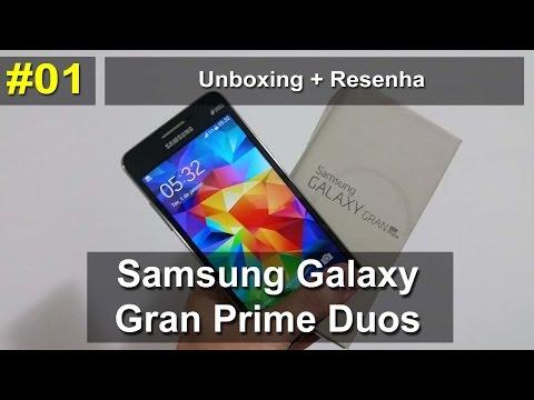 Samsung Galaxy Gran Prime Duos TV - Unboxing e resenha - Português