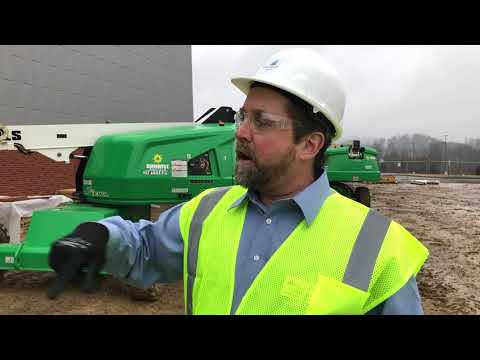 Video: Rowell talks about Technical Education Complex after tour, Part I