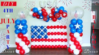 4th Of July Party Decorations | DIY Balloon Column Stands