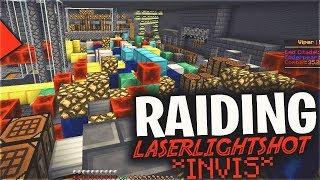 OPERATION RAID LASERLIGHTSHOT (INVIS LOOTING) | Minecraft HCF