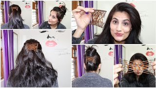 5 QUICK HAIRSTYLES USING MAGIC COMB