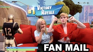 FORTNITE FAN MAIL!! (LOGAN GOT A WIN AS TOM BRADY)