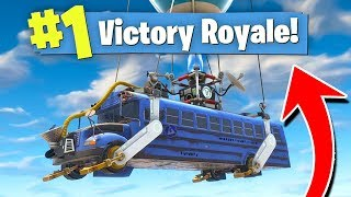 WINNING FORTNITE In The STARTING BUS! (Fastest Win?)