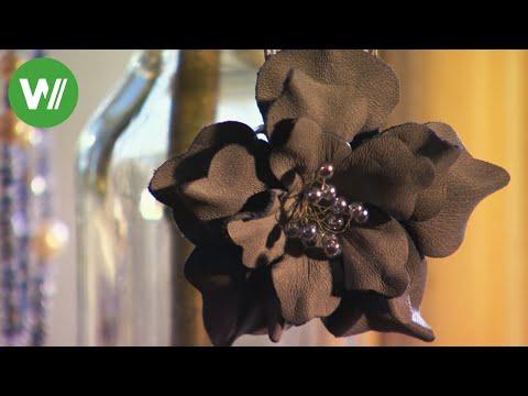 Blumen aus Leder - Schmuck für den Sommer!