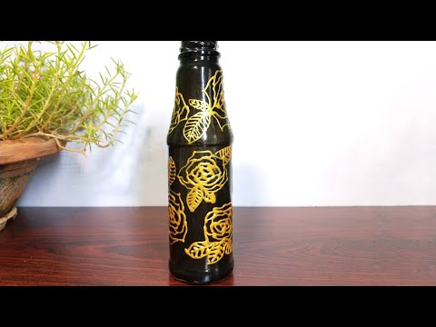 DIY easiest Bottle Art