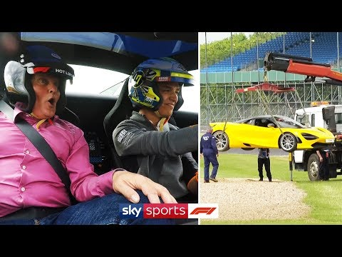 Image: WATCH: Lando Norris takes Sky F1 around Silverstone - and ends in the gravel!