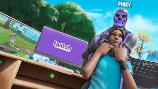 I spent a DAY challenging Twitch Streamers in Fortnite...