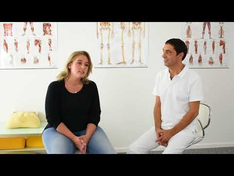 Eine Manifestation der Osteochondrose der thorakalen
