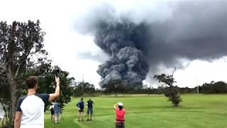 volcano golf course erupting