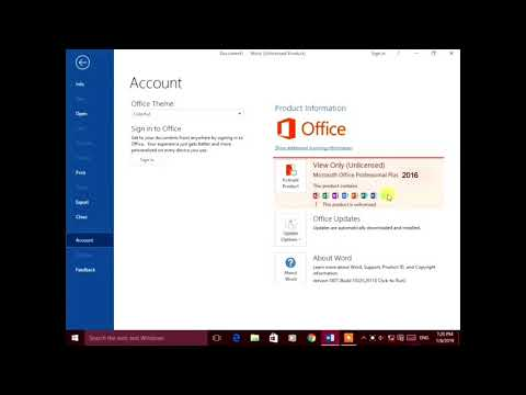 Activate Microsoft Office 2019 Final with 1 Click in 5