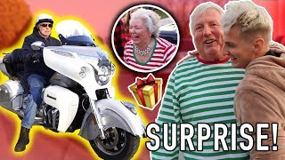Son Buys Dad His DREAM MOTORCYCLE For Christmas 2018! (Heartfelt)