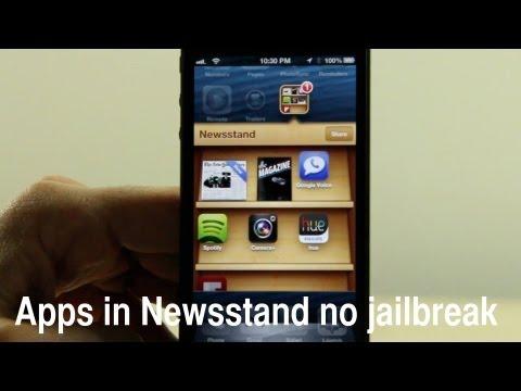 Hide Apps In The iPhone Newsstand, No Jailbreak Required