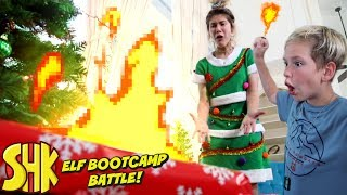 Elf Bootcamp Battle! | SuperHero Kids