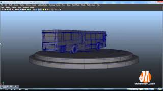 preview picture of video 'modeling bus  3d'