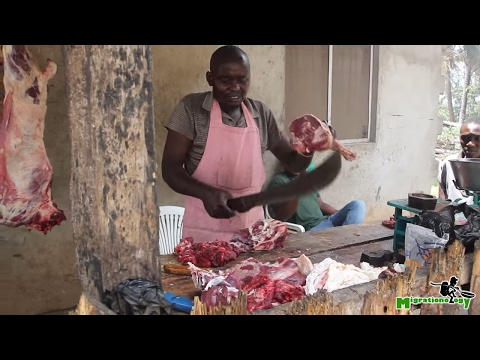Nyama Choma: Tanzanian Roasted Goat - African Street Food!