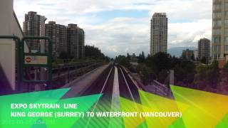 Skytrain - Expo Line: Surrey To Vancouver Time Lapse HD