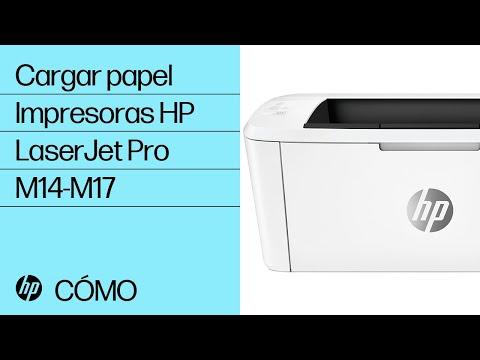 Cómo cargar papel en las impresoras HP LaserJet Pro M14-M17