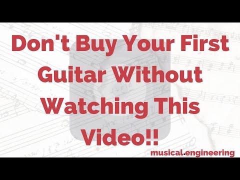 A video off my education blog, JustWriteMusic.com, helping viewers make their first guitar purchase.