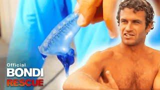Corey the Bluebottle Experiment Subject! | Best of Bondi Rescue