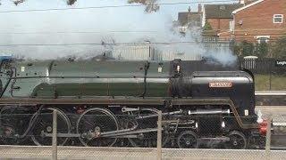 preview picture of video 'Britannia at Leighton Buzzard - 14th April 2012'