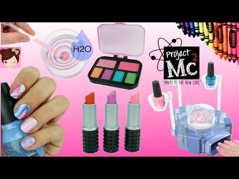 Project Mc2 Beauty Experiments H2O Nail Kit DIY Crayon lipsticks Lip Balms