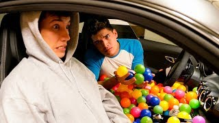 FILLED HIS ENTIRE CAR WITH 10,000 BALLS!!