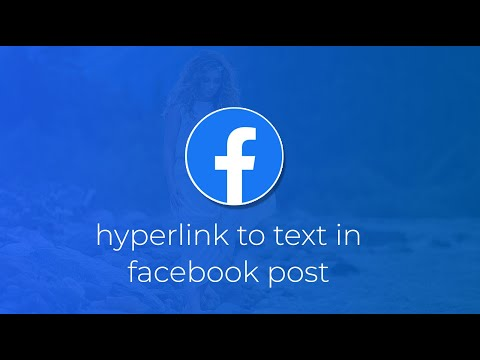 How to add hyperlink to text in facebook post ?