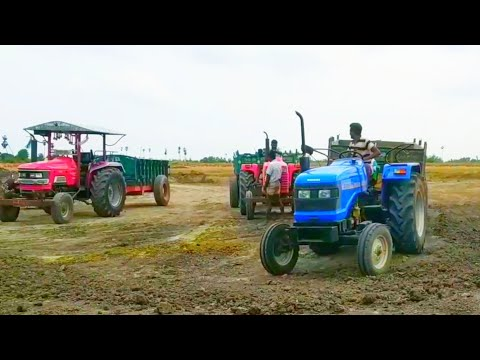 Sonalika Di 47 RX Tractor fully loaded | JCB 3DX machine | Tractor video | Come the village