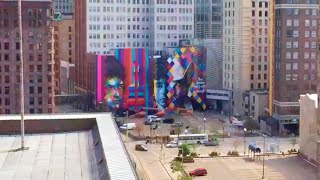 Time-lapse of the Bob Dylan Mural by Kobra
