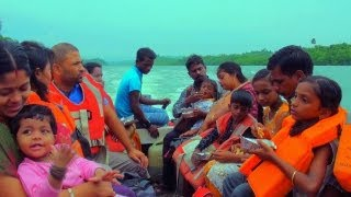 Boat travel to Limestone Caves, Andaman