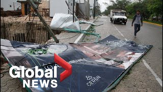 Hurricane Zeta lashes Mexico with heavy winds, rain