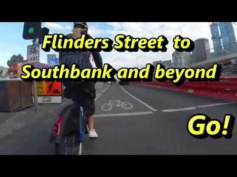 St Kilda Rd to Capital City Trail in 4 minutes - Southbank with Alison McCormack - Hyperlapse