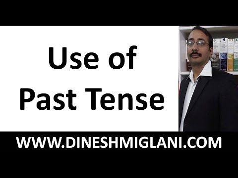 use of past tense grammar by dinesh miglani sir