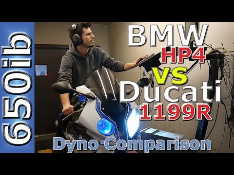 BMW HP4 vs Ducati 1199 Panigale R: Comparison--On the Dyno