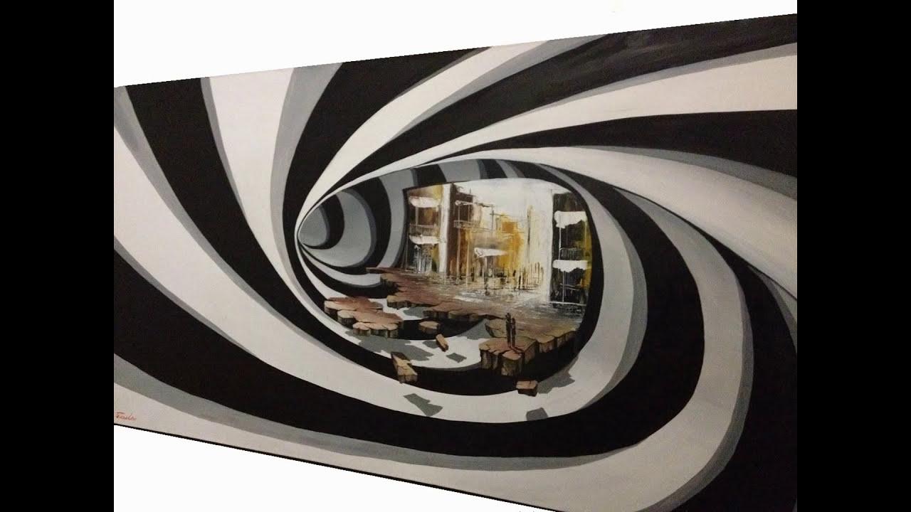 best 3d art illusion painting gold fish by eka peradze