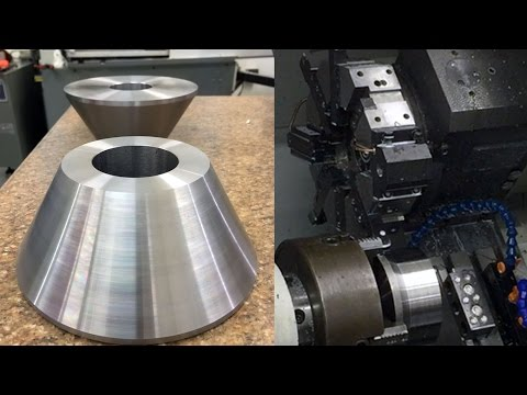 Turning Steel Cones on CNC Lathe! - NYC CNC