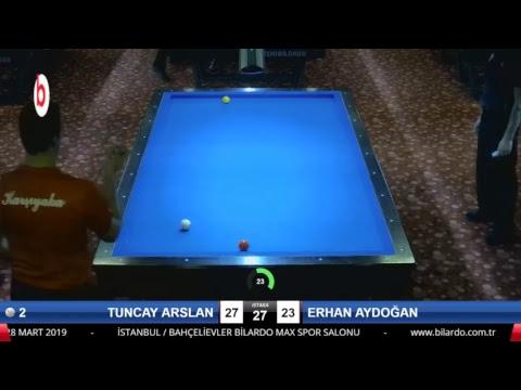 TUNCAY ARSLAN & ERHAN AYDOĞAN Bilardo Maçı - 2019 - TÜRKİYE 1.LİGİ-1.TUR