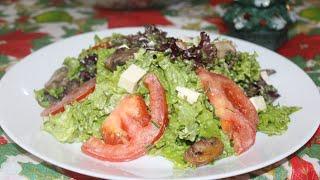 ძალიან გემრიელი მწვანე სალათა