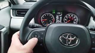 Toyota safety sense turning on and off
