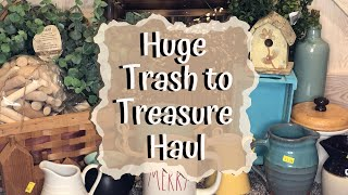 TRASH TO TREASURE HAUL | WALMART AND DOLLAR TREE HAUL | TRASH TO TREASURE DIY | VALENTINES DECOR