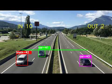 Counting and calculating the density of the Vehicles with OpenCV 4 0