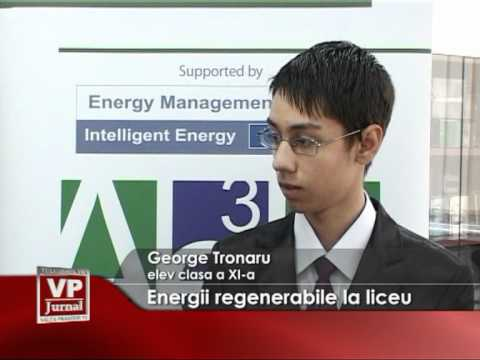 Energii regenerabile la liceu