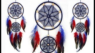 DIY Macrame Wall Hanging Dream Catcher | Wall Hanging Craft Ideas for Home Decor