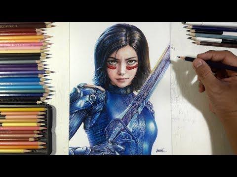 วาดอลิตา Drawing Alita (Alita: Battle Angel) | Fame Art