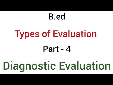 Part - 4 diagnostic  evaluation | types of evaluation | b.ed