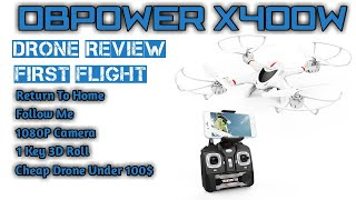 DBPOWER X400W FPV RC QuadCopter Drone || Worth Buying || Cheapest Drone Under 100$ || Flight Test