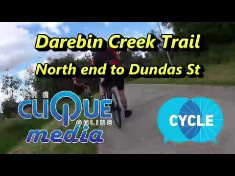 Bundoora to Thornbury on the Darebin Creek Trail in 3 minutes - 95% Shared path