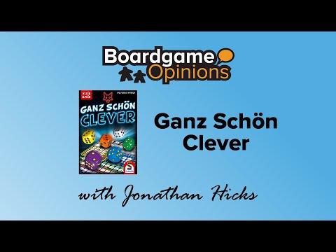 Boardgame Opinions: Ganz Schön Clever