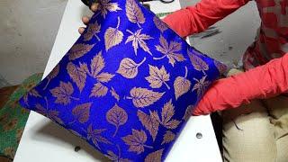 Simple Cushion Cover    बचे हुऐ कपडे़ से बनाऐ कुशन कबर