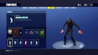 "new ""ORANGE JUSTICE"" Emote Showcased with 20 skins